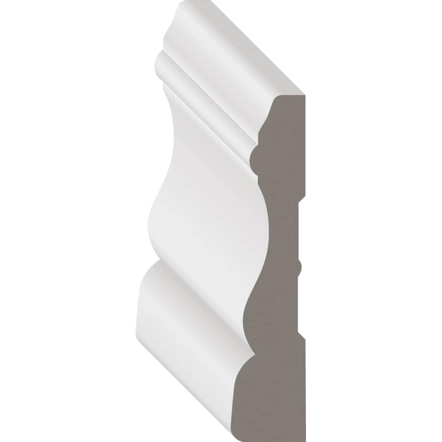 """METRIE:5/8"""" x 2-3/4"""" x 8' White PVC Colonial Casing Moulding"""