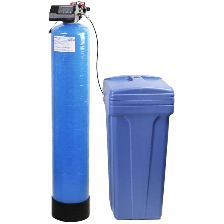 RAINFRESH:30,000 Grain Capacity 2 Tank Water Softener with Iron Removal
