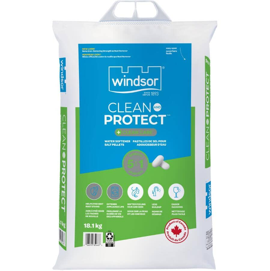 WINDSOR SALT:Clean & Protect Plus Clean Care Water Softener Salt - 18.1 kg