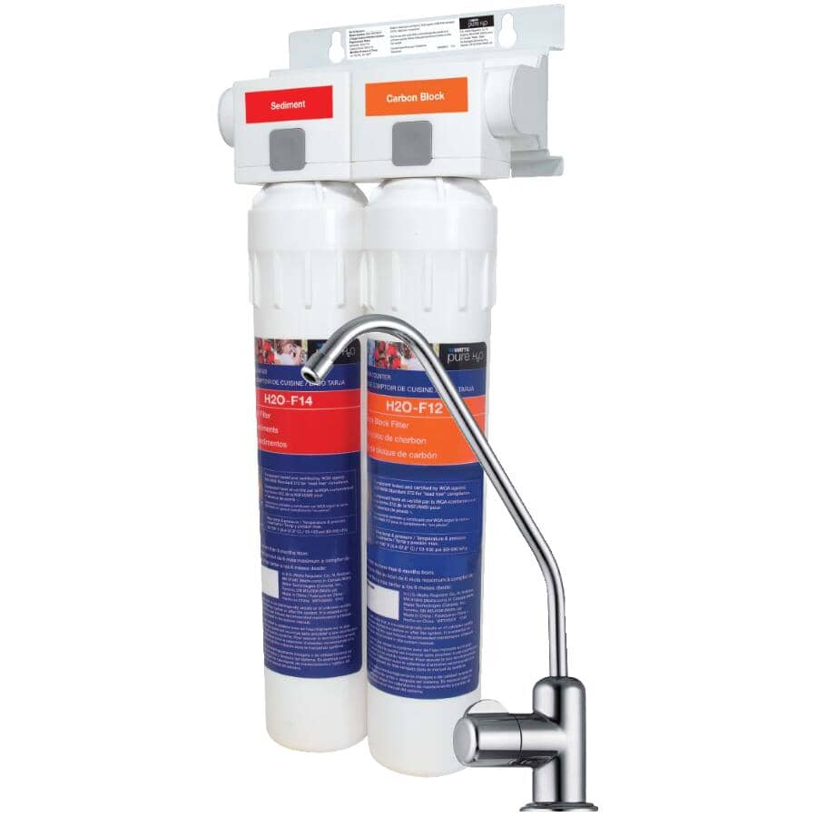 WATTS PURE H2O:Pure H2O 2 Stage Water Filtration System