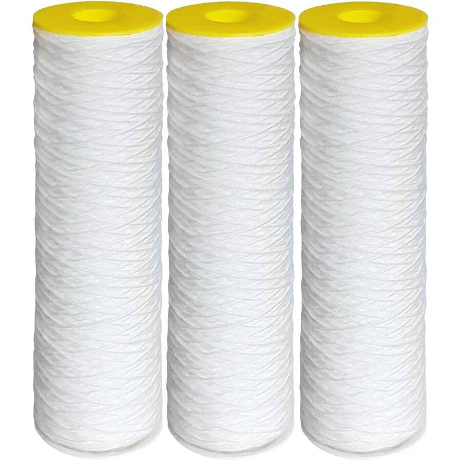 RAINFRESH:3 Pack Extra Fine Pore Filter Cartridge Refills - 1 Micron