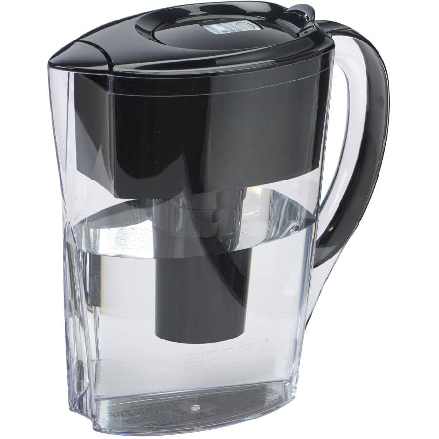 BRITA:6 Cup Black Space Saver Water Pitcher with Filter