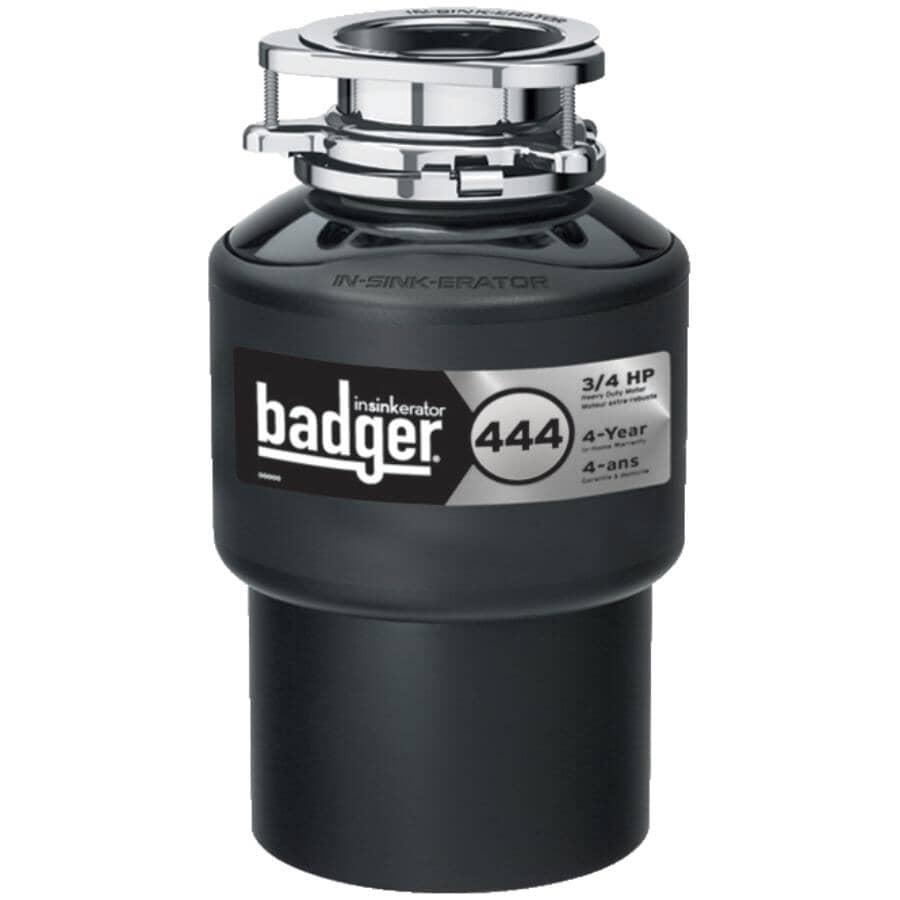 INSINKERATOR:Badger 444 Garbage Disposal - 3/4 Horse Power