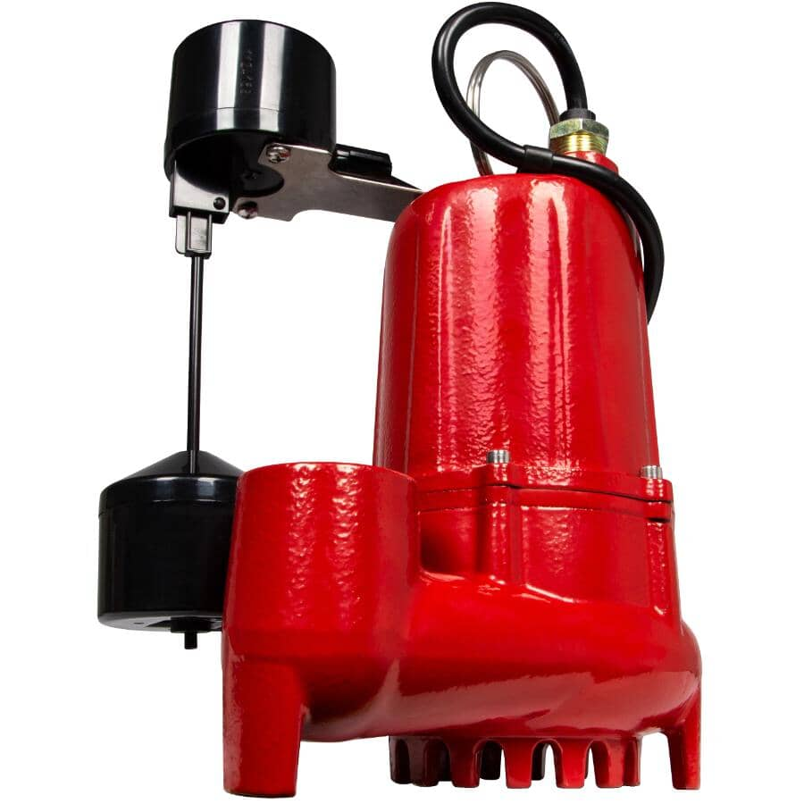 RED LION:1/2 Horse Power Sump Pump, with Vertical Switch
