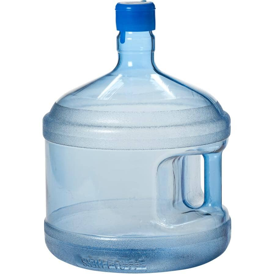 PURELY NATURAL:3 Gallon/11.36 Litre Polycarbonate Water Bottle, with Pushcap