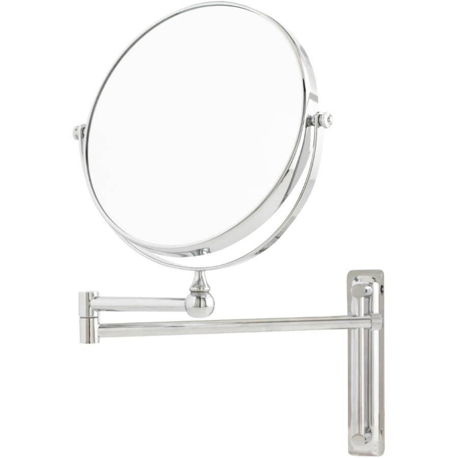 DANIELLE:10X Magnifying Adjustable Round Mirror - Chrome