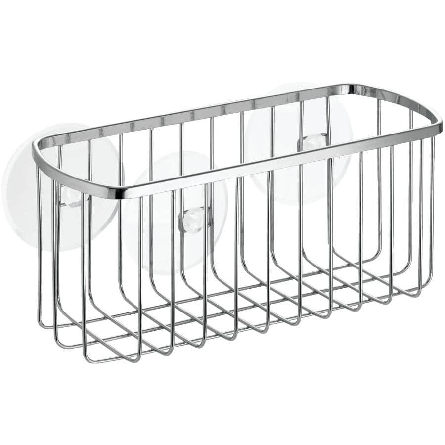 INTERDESIGN:Stainless Steel Rectangle Suction Shower Basket