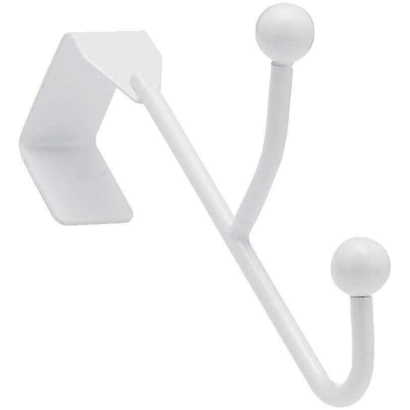 RICHELIEU:2 Hook Over The Door Hanger - White