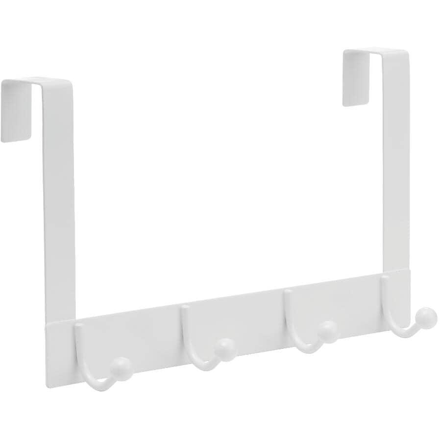 RICHELIEU:4 Hook White Over The Door Hanger
