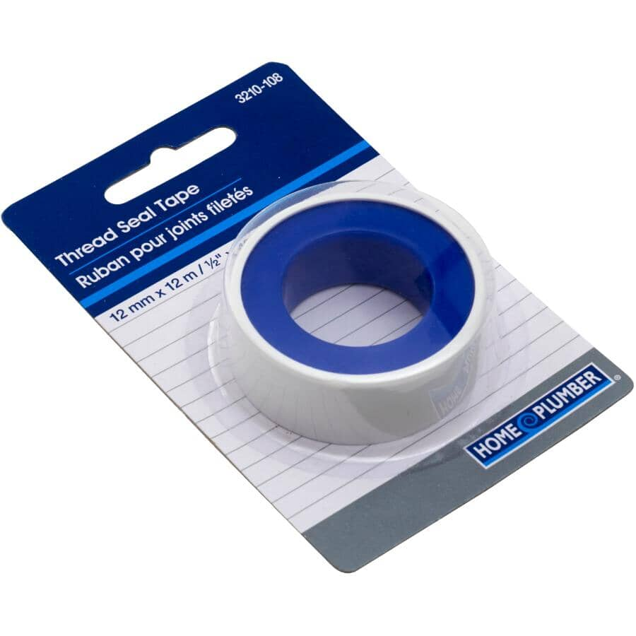 "HOME PLUMBER:1/2"" x 480"" White Pipe Thread Tape"