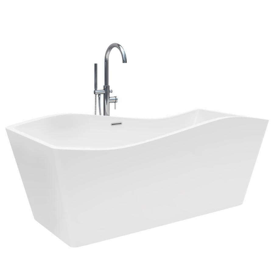 "A&E BATH AND SHOWER:67"" x 31"" Andolia Artistic Freestanding Acrylic Tub - White"