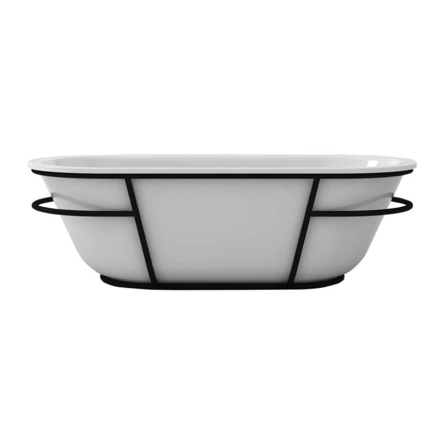 "A&E BATH AND SHOWER:71"" x 32"" Atlantis Artistic Freestanding Acrylic Tub - White"
