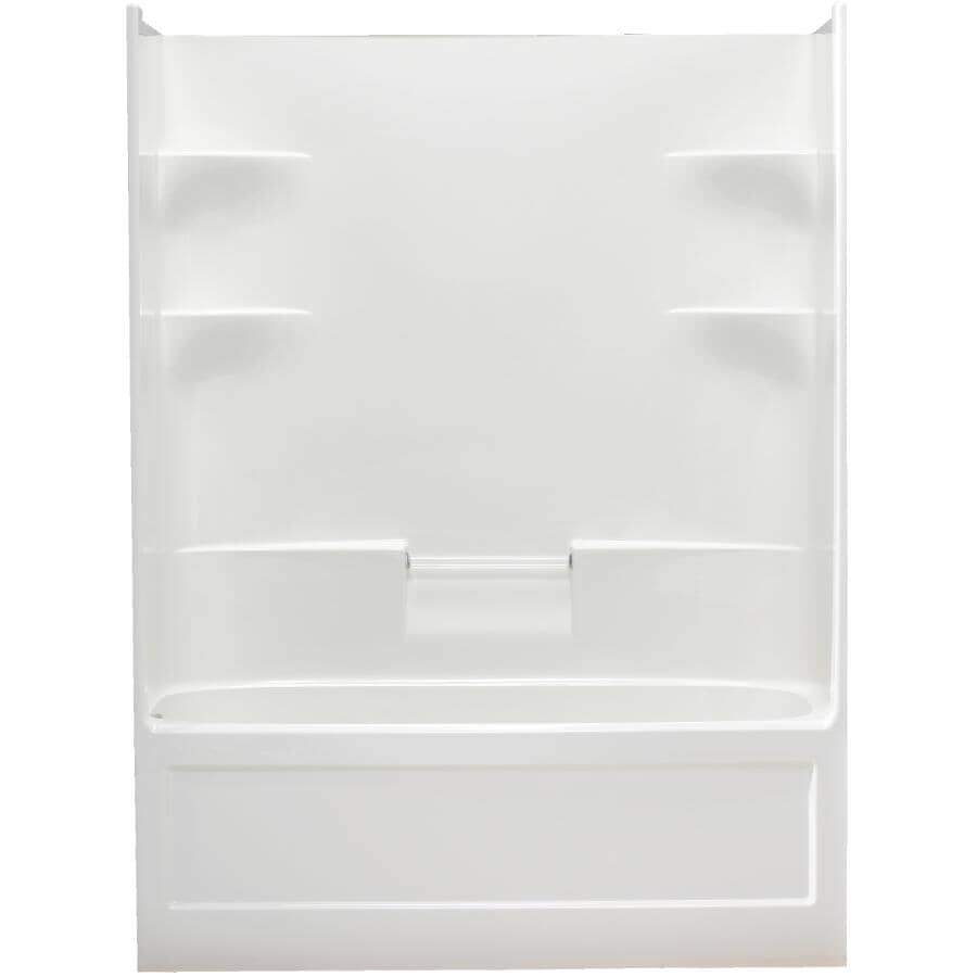 """MIROLIN:60"""" 1 Piece White Acrylic Left Hand Tub and Shower"""