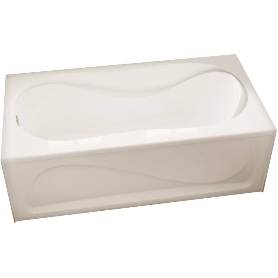 """MAAX:60"""" x 30"""" White Cocoon Left Hand Soaker Bathtub with Skirt"""