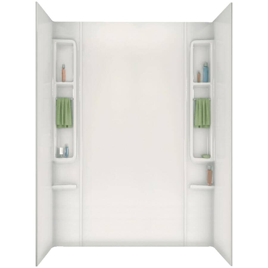 "MAAX:80"" Finesse White Acrylic Tub Wall"