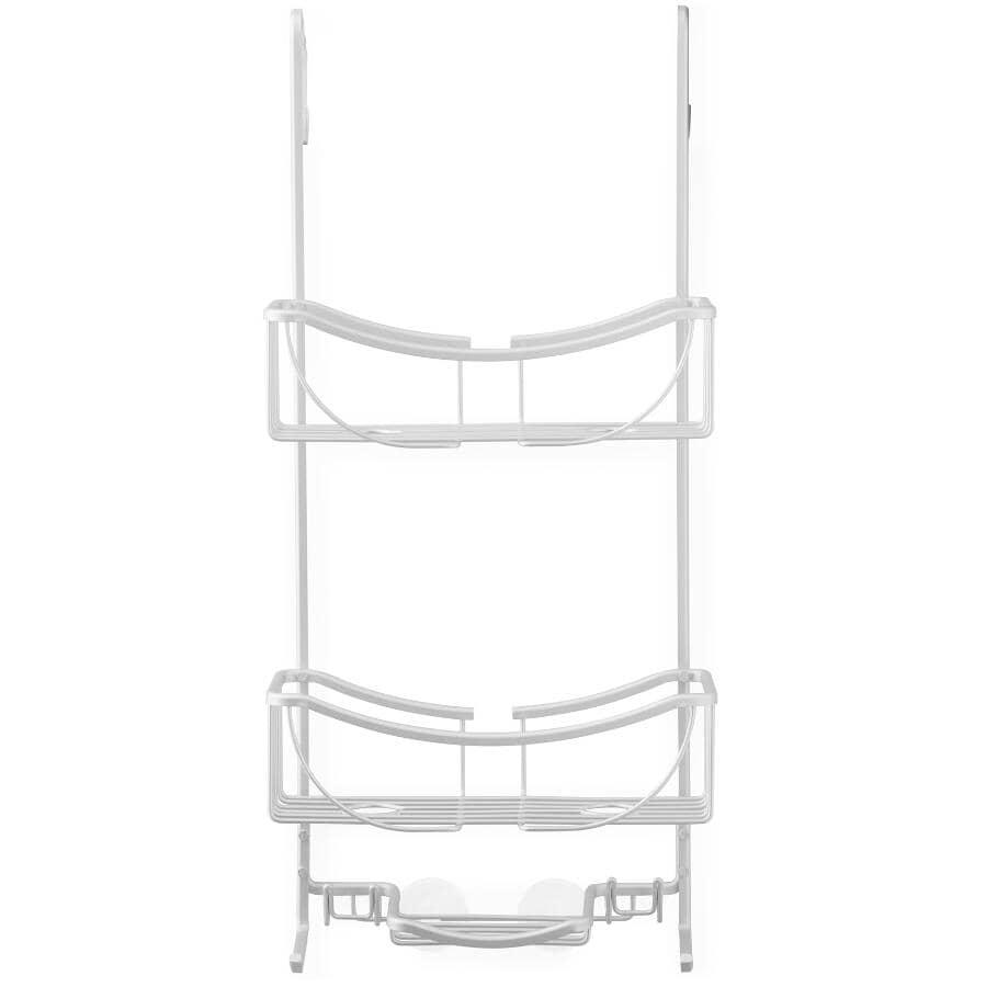 BETTER LIVING:Support de rangement Venus à 2 niveaux en aluminium anodisé pour dessus de porte de douche