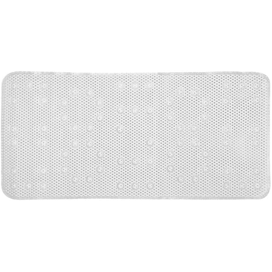 """SPLASH HOME:Softee Skid Resistant PVC Bath Tub Mat - White, 17"""" x 36"""""""