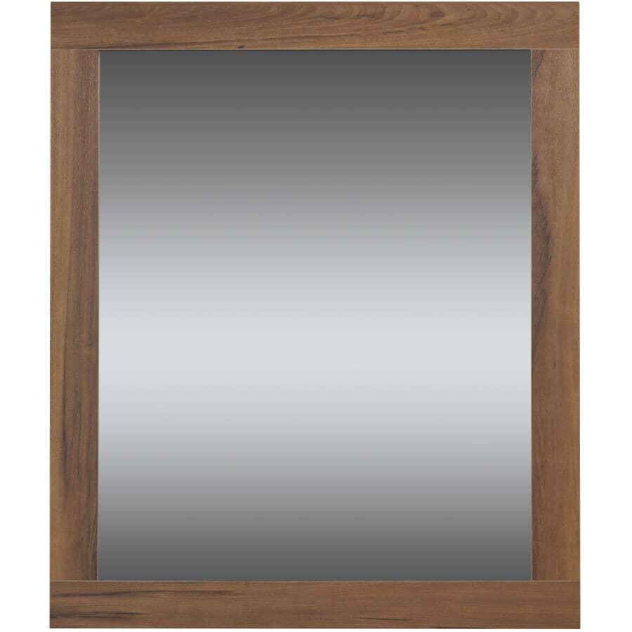 "LUXO MARBRE:Relax Framed Rectangular Mirror - Chestnut, 36"" x 30"""