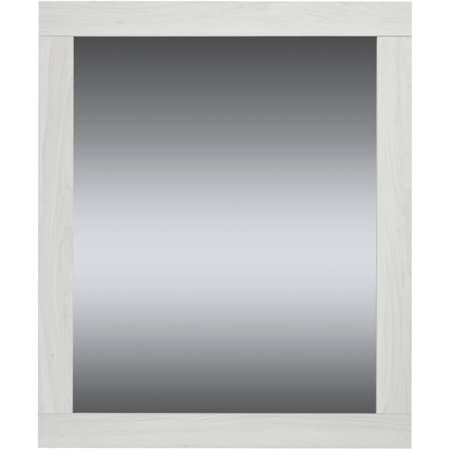 """LUXO MARBRE:Relax Framed Rectangular Mirror - White, 36"""" x 30"""""""