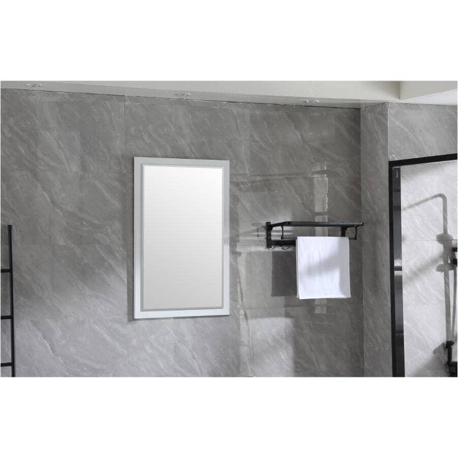 """KLAYR:Soho Framed Rectangular Mirror - White, 24"""" x 35"""""""