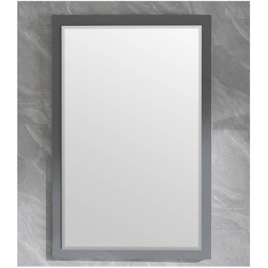 """KLAYR:Soho Framed Rectangular Mirror - Graphite, 24"""" x 35"""""""