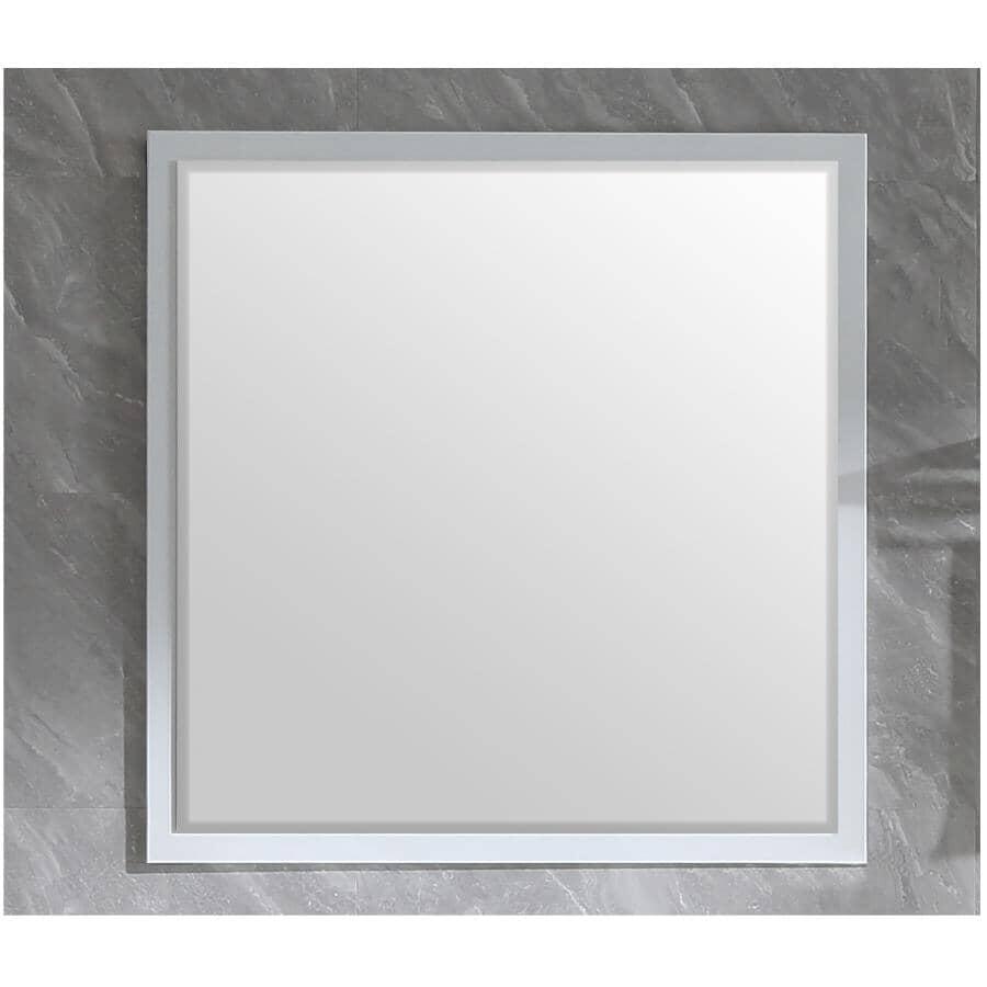 """KLAYR:Soho Framed Square Mirror - White, 36"""" x 36"""""""