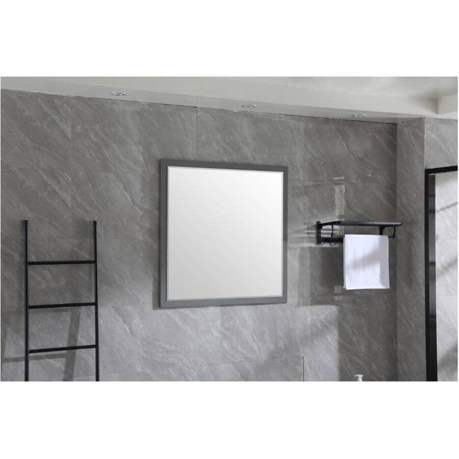 "KLAYR:Soho Framed Square Mirror - Graphite, 36"" x 36"""