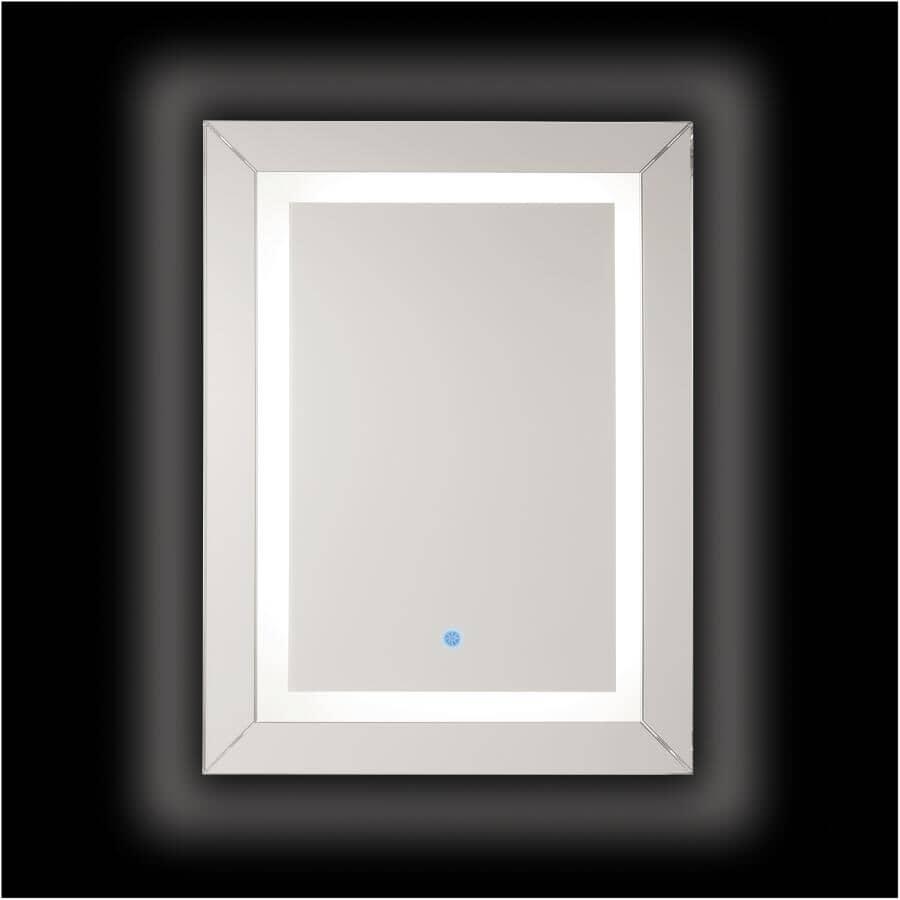 "RENIN:Modena Illuminated Framed Rectangular Mirror - 24"" x 32"""