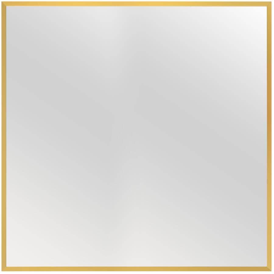 "RENIN:Dobson Framed Square Mirror - Gold, 36"" x 36"""