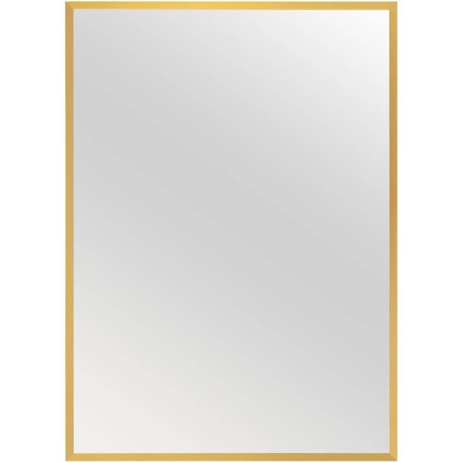 "RENIN:Dobson Framed Rectangular Mirror - Gold, 26"" x 36"""
