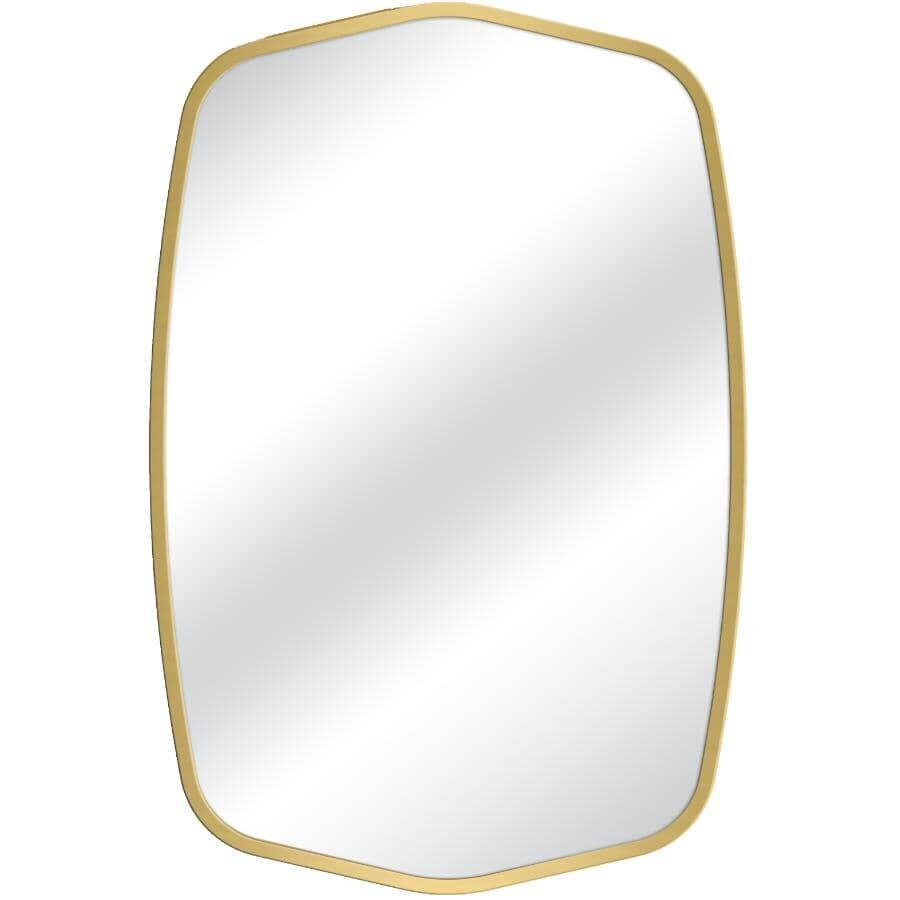 "RENIN:Balfour Framed Oval Mirror - Gold, 24"" x 36"""