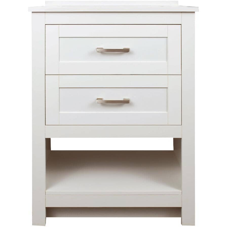 """FOREMOST:25"""" W x 19"""" D Laine Vanity with Composite Top - White"""