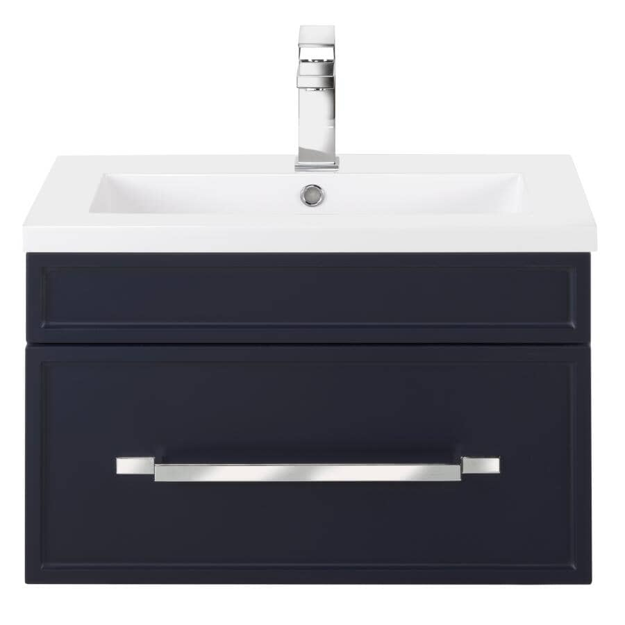 """CUTLER KITCHEN & BATH:24"""" W x 16"""" D Spencer Vanity with Cultured Marble Top - Blue"""