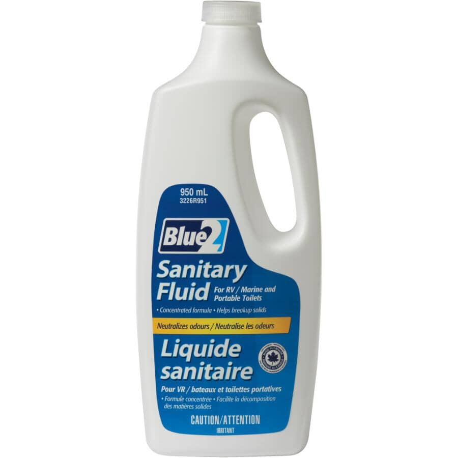 BLUE 2:950mL Portable Toilet Cleaner for RVs and Boats