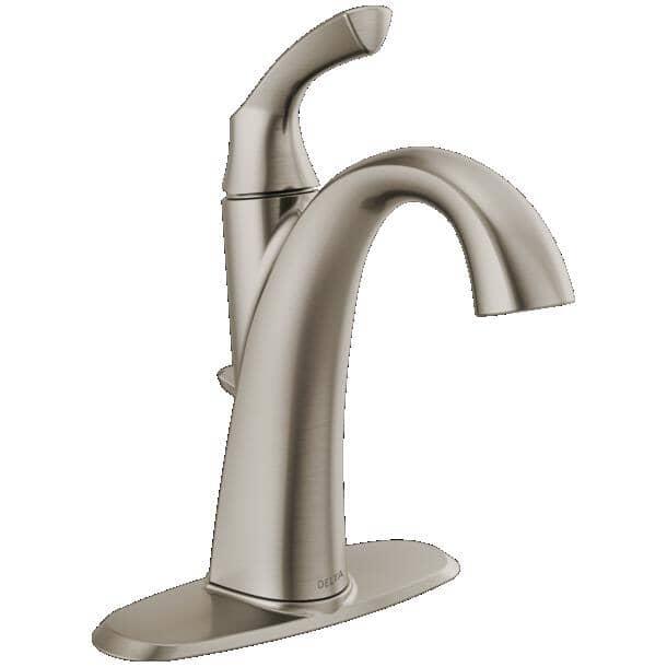 DELTA FAUCET:Sandover Single Handle Lavatory Faucet - Spotshield Brushed Nickel