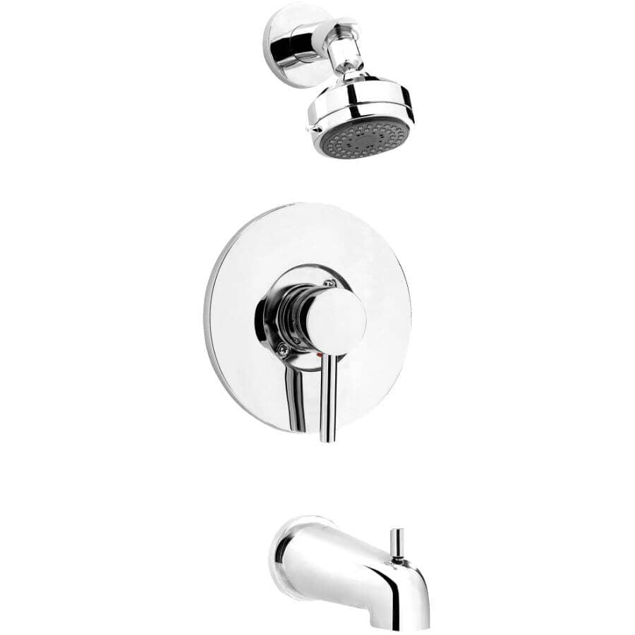 ESSENTIAL:Single Handle Pressure Balanced Tub and Shower Faucet - Chrome
