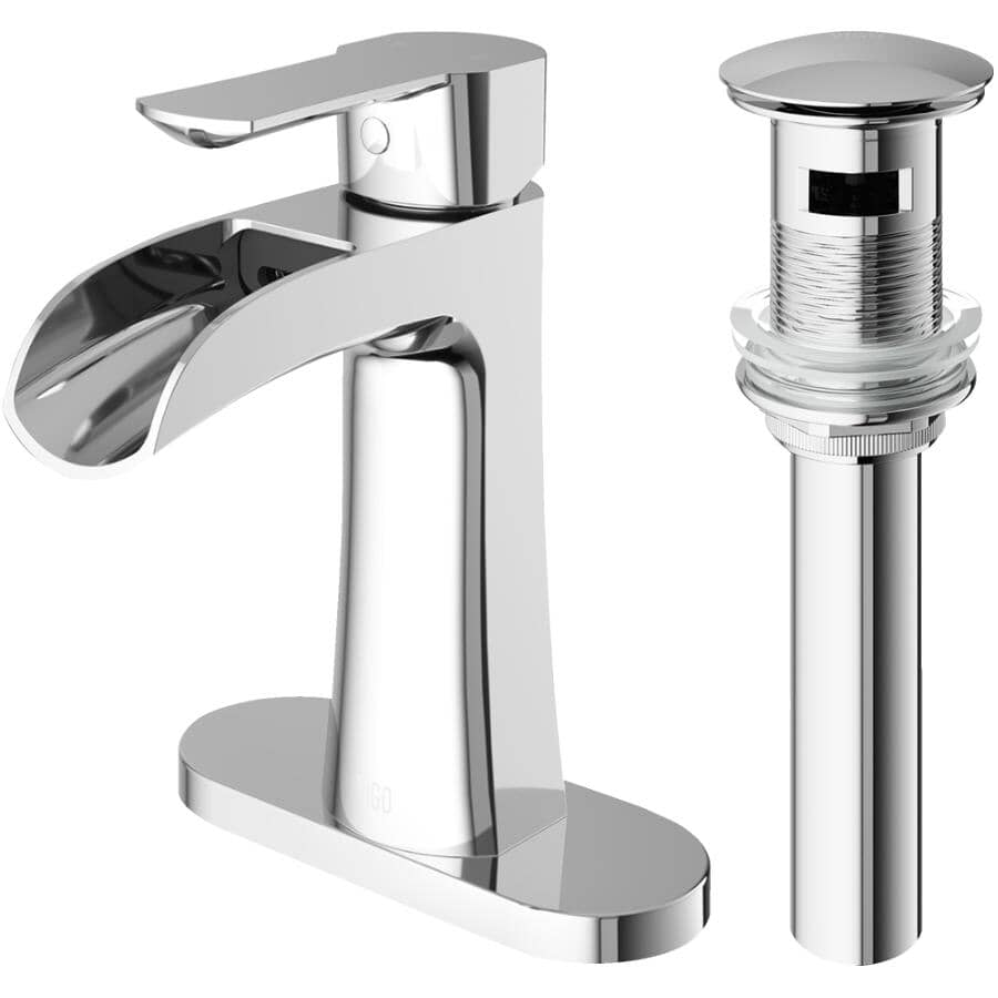 VIGO:Paloma Single Handle Lavatory Faucet - Chrome