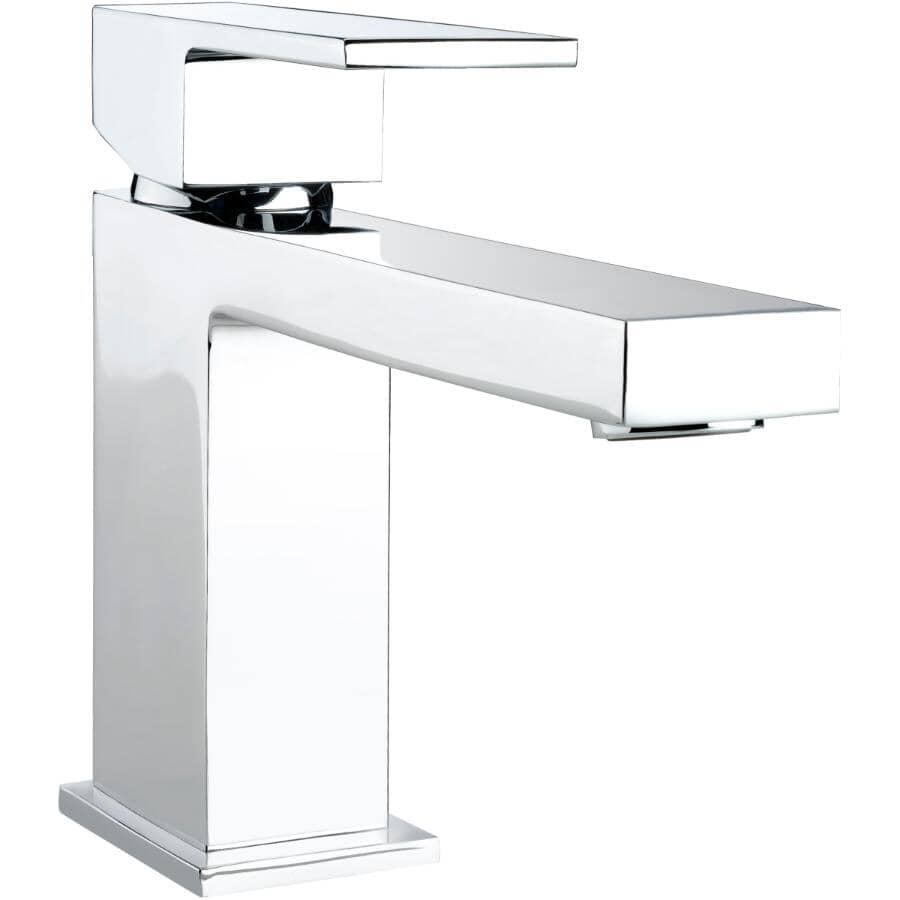 ESSENTIAL:1+3 Hole 1 Lever Handle Quadrato Chrome Square Design Lavatory Faucet