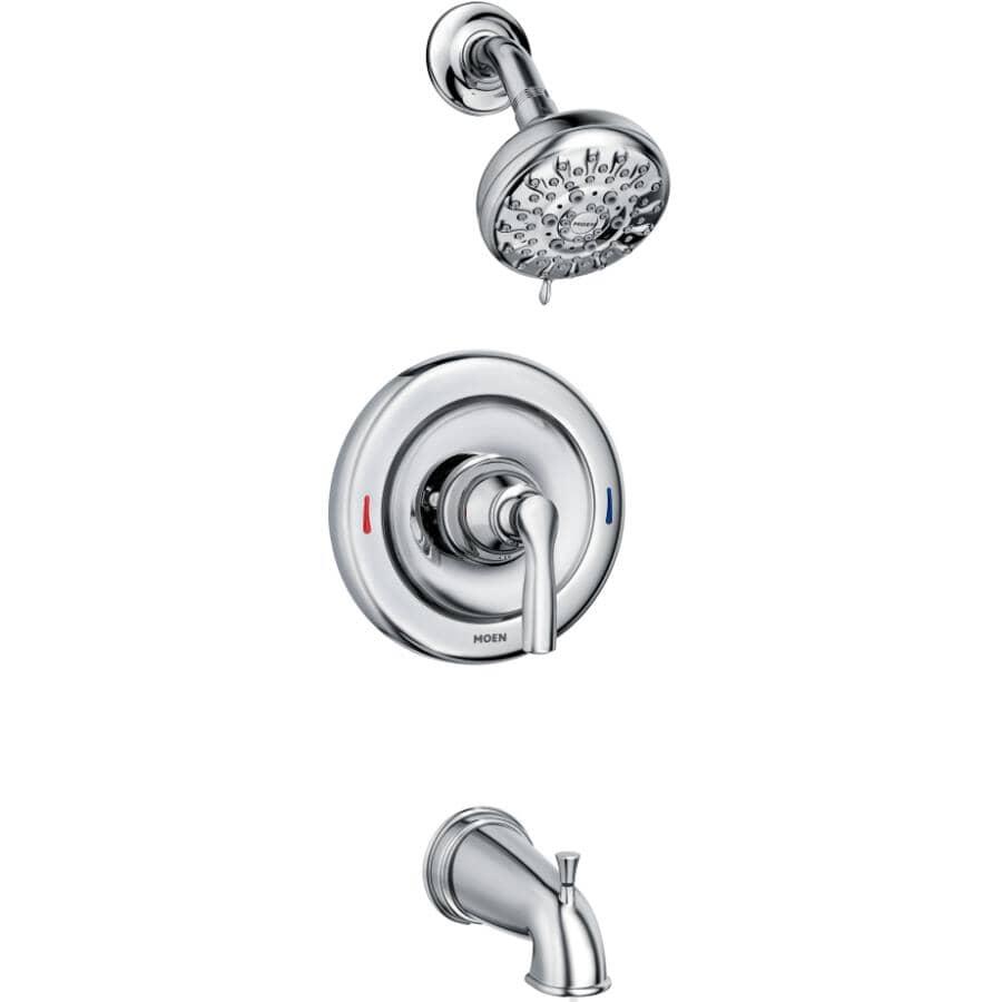 MOEN:Hilliard Chrome Single Handle Pressure Balanced Tub and Shower Faucet