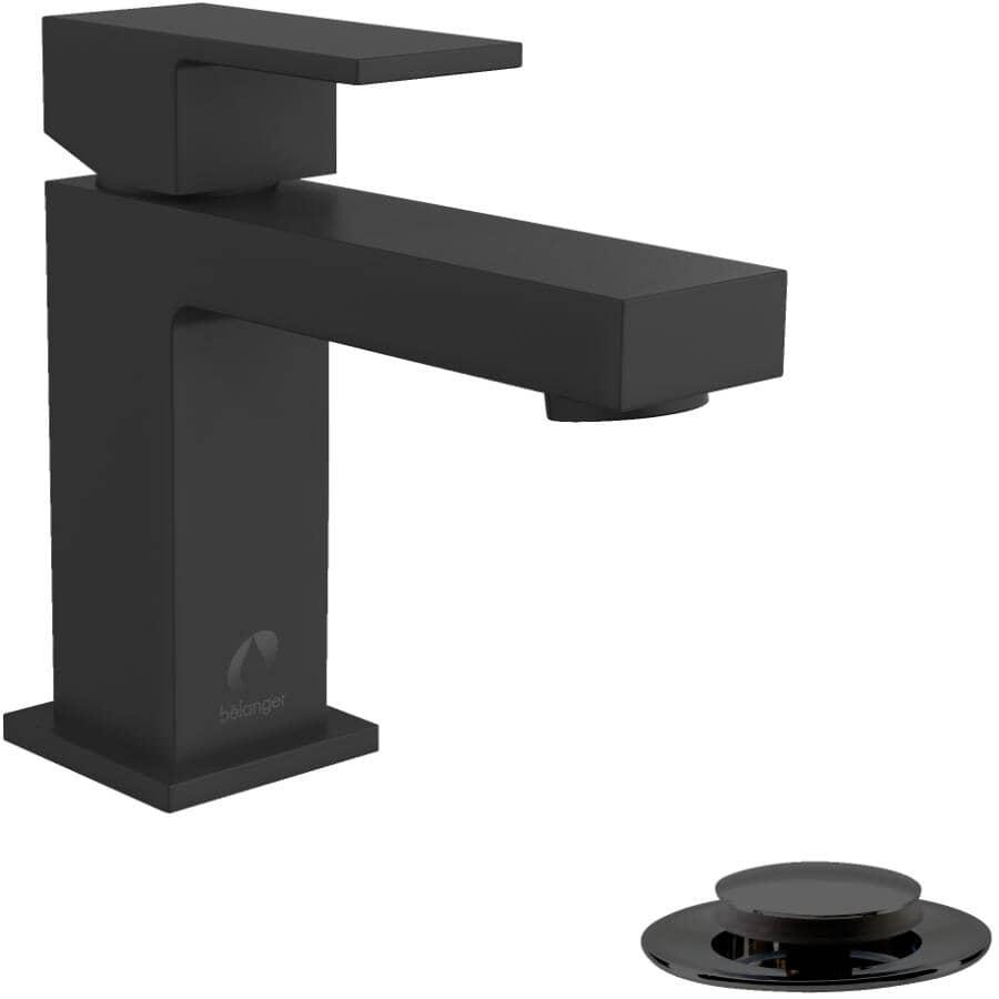 ESSENTIAL:Quadrato Single Lever Lavatory Faucet - Matte Black