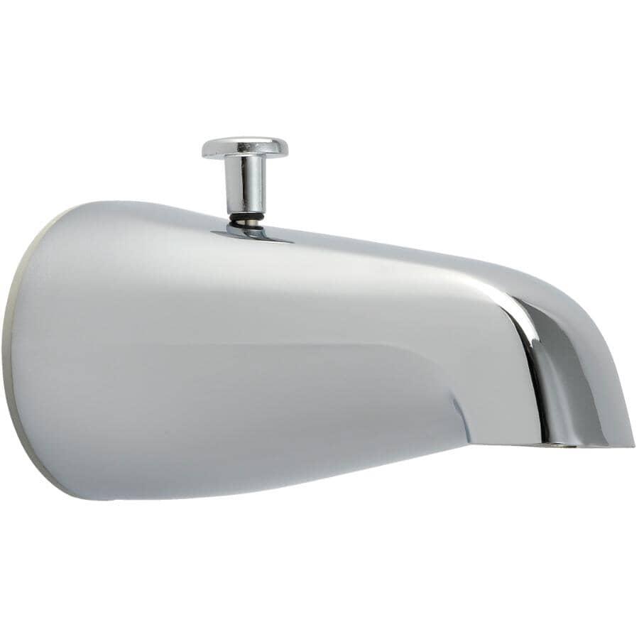 HOME PLUMBER:Chrome Plated Tub Diverter Spout