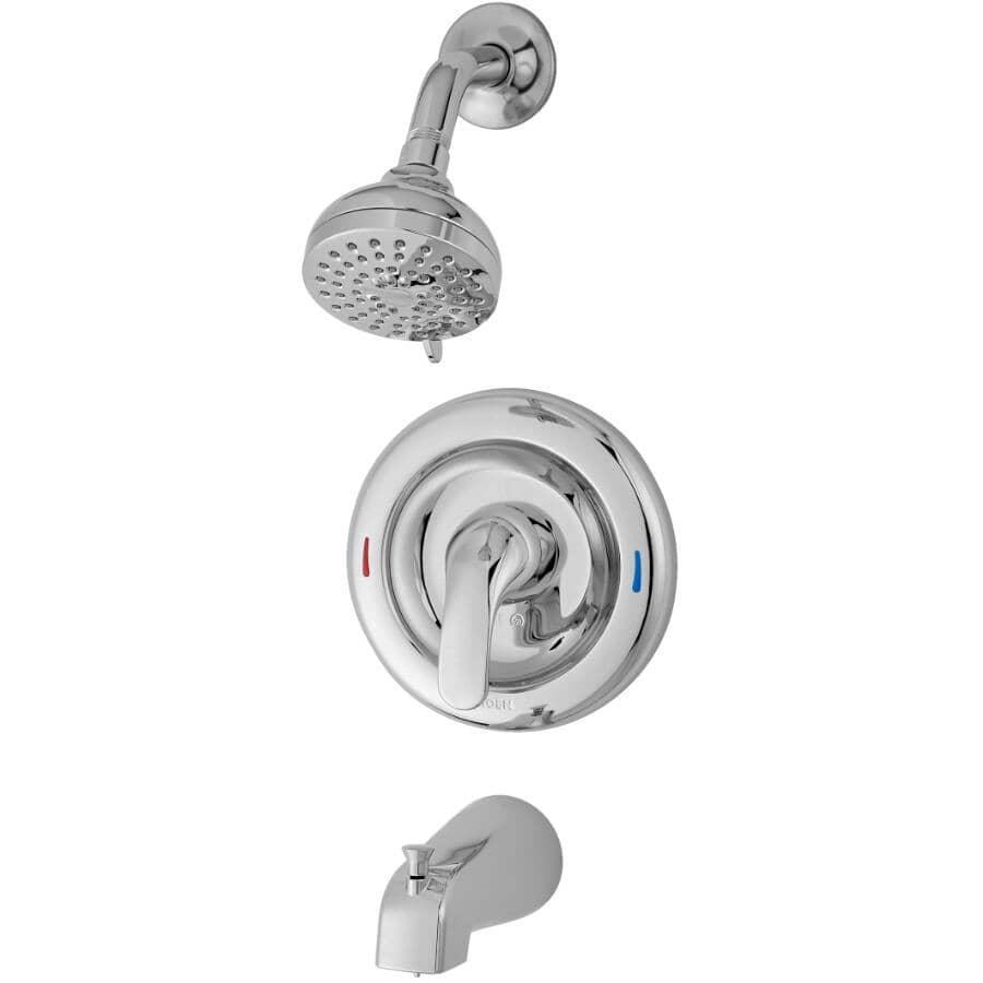 MOEN:Adler Tub and Shower Faucet - Pressure Balance + Chrome