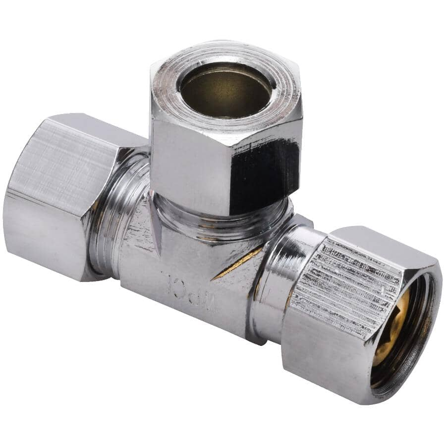 """WATERLINE PRODUCTS:3/8"""" x 3/8"""" x 3/8"""" Female Swivel Icemaker & Humidifier Add-A-Stop Adapter"""