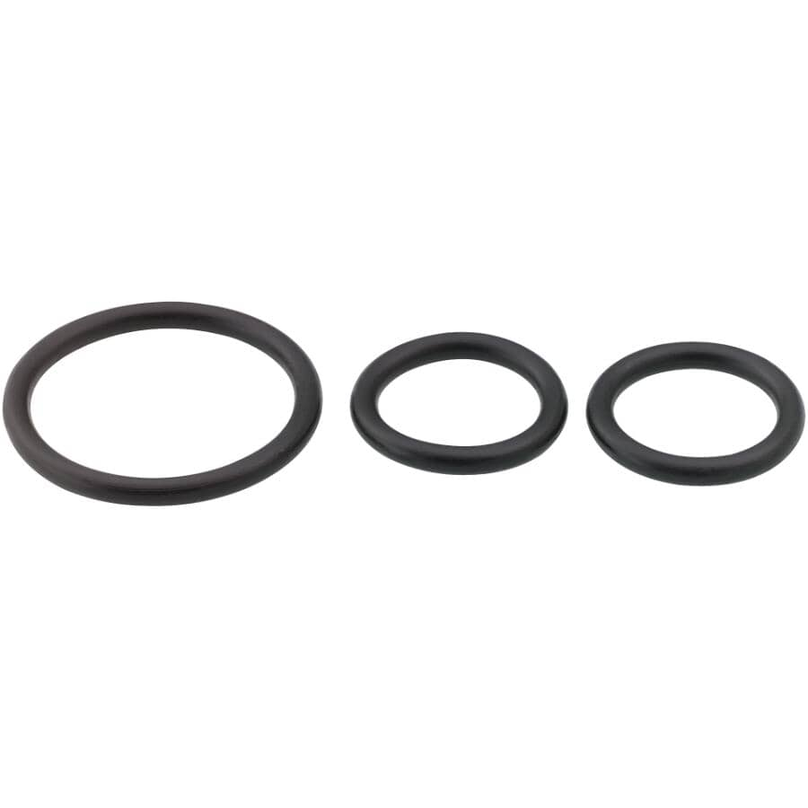 MOEN:3 Piece Faucet O-Ring Kit, Assorted Sizes