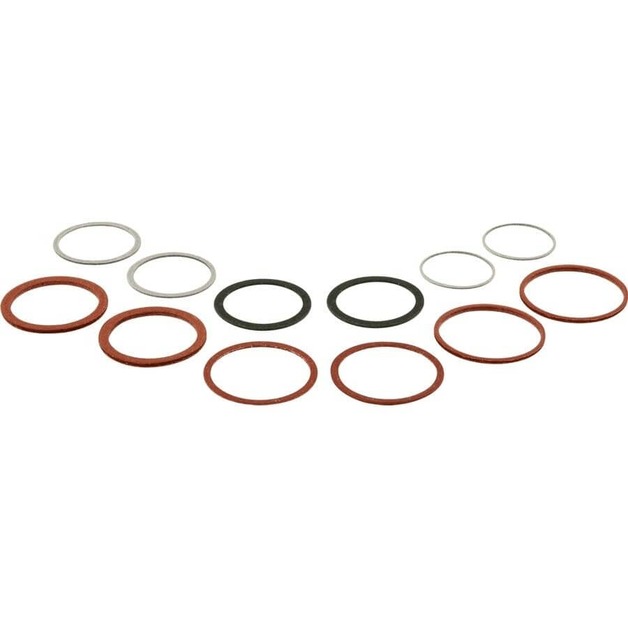 PLUMB SHOP:12 Pack Fibre Washers, Assorted Sizes