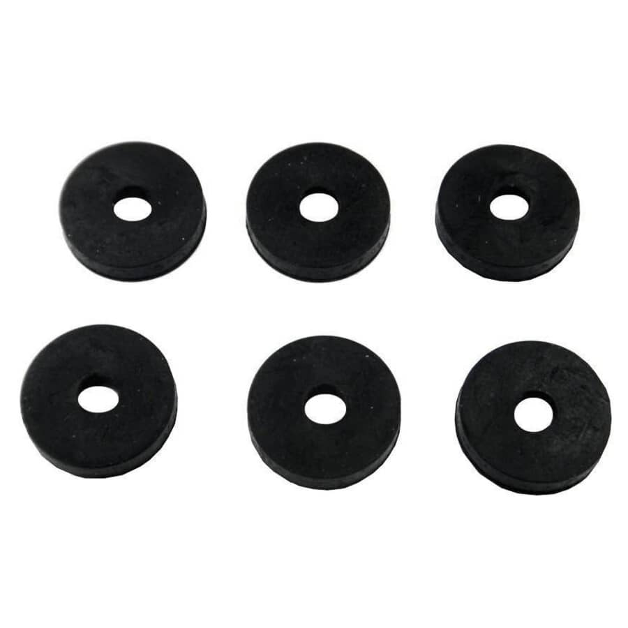 """HOME PLUMBER:6 Pack 1/4"""" Small Flat Faucet Washers"""