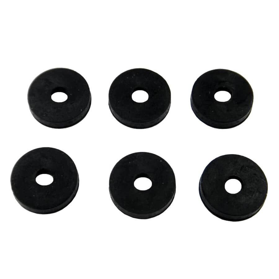 """HOME PLUMBER:6 Pack 1/4"""" Large Flat Faucet Washers"""