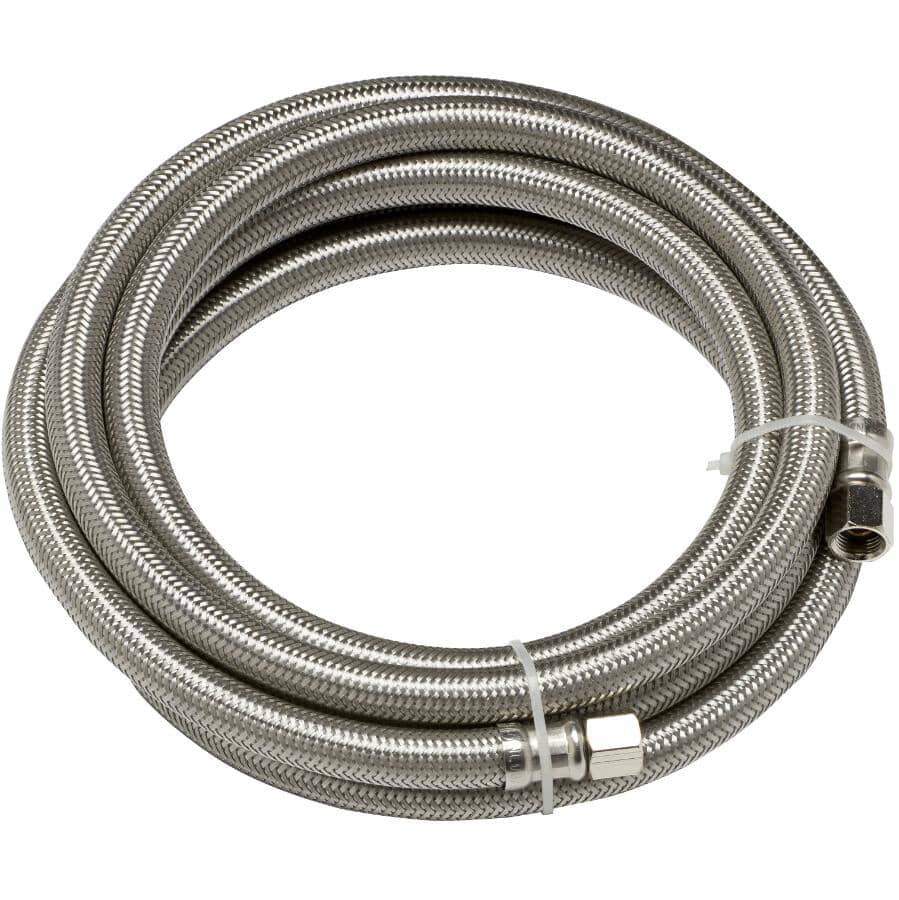 HOME PLUMBER:10' Stainless Steel Ice Maker Connector