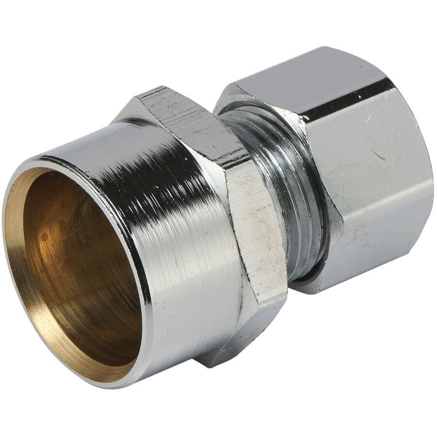 "GENERIC:1/2"" Copper Sweat x 3/8"" Outside Diameter Compression Female Brass Connector"