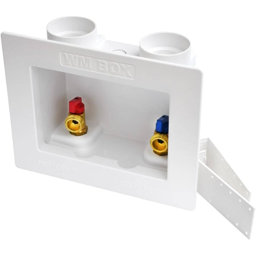 WATERLINE PRODUCTS:Push 'N' Connect Washing Machine Outlet Box